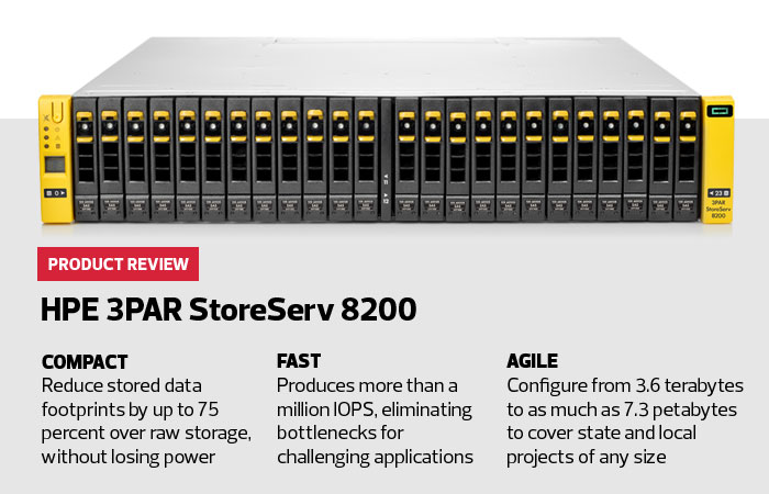 Review: HPE 3PAR StoreServ 8200 Does More with Flash | StateTech ...