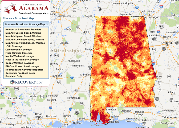 Alabama Broadband Map