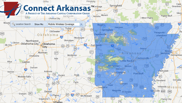 Arkansas broadband map