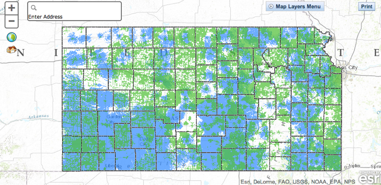 Kansas broadband map