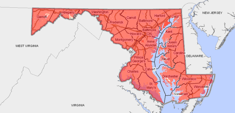 Maryland broadband map