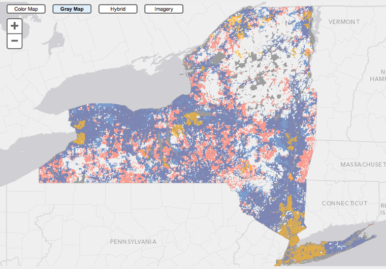 New York Broadband map