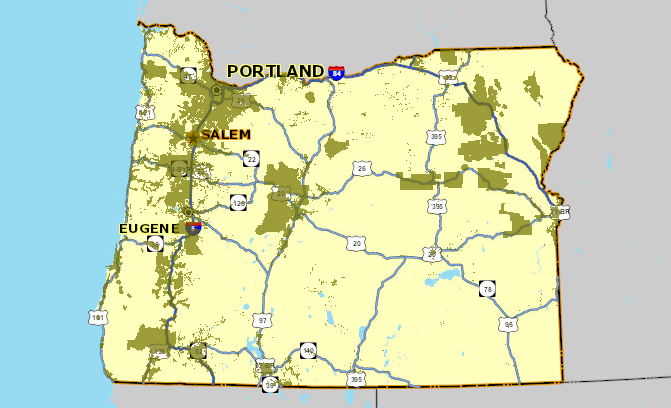 Oregon broadband map