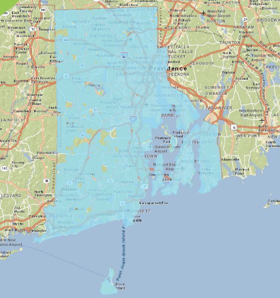 Rhode Island broadband map