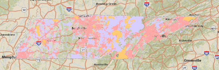 Tennessee broadband map