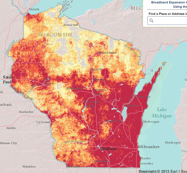 Wisconsin broadband map