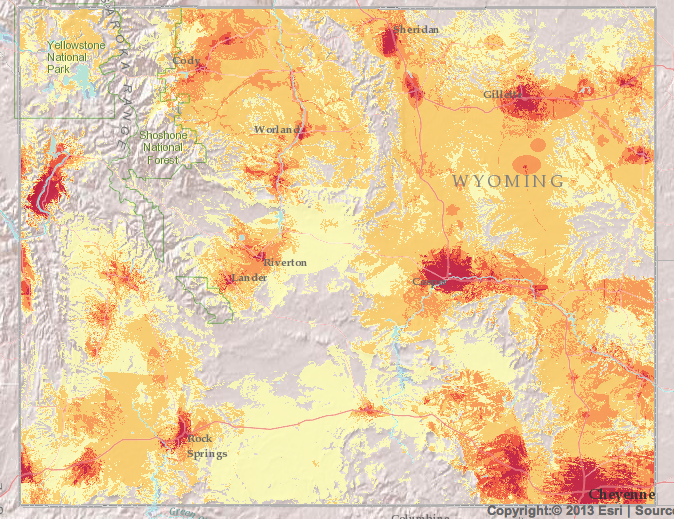 Wyoming broadband map