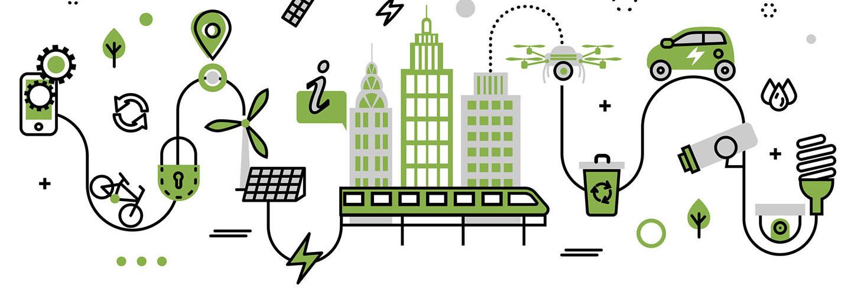 smart city concept, green