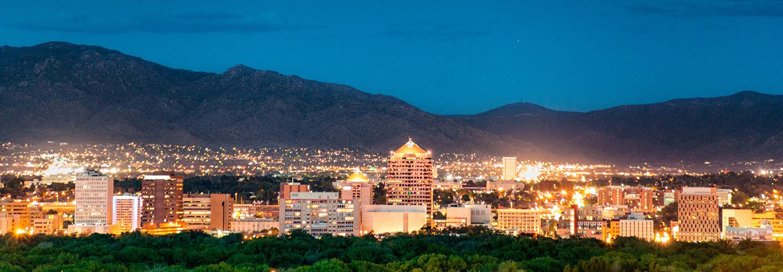 Albuquerque, New Mexico, at night.