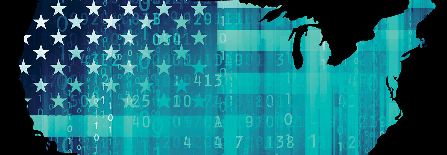 USA cybersecurity map