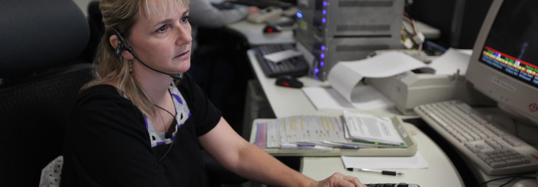 Female 911 dispatcher