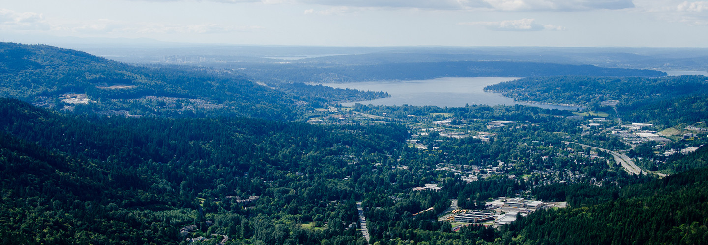 View of lake Sammamish and Issaquah from Poo Poo Point, Eastside, Washington
