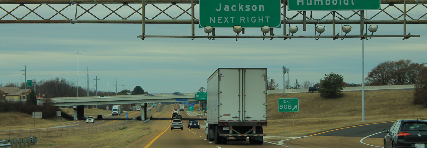 I-40 at the U.S. 45 Bypass interchange in Jackson