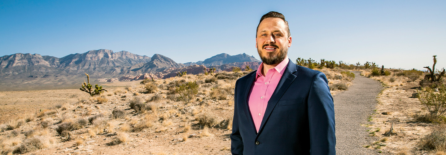 In arid Clark County, Nev., Tim Burch is focused on the plight of urban residents who need housing assistance.