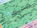 North Dakota on a map