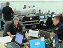 The City of San Antonio and Bexar County Emergency Operations Center bustles with activity in anticipation of Hurricane Ike.