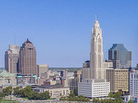 View of the Columbus , Ohio, skyline