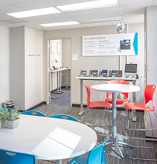 DiscoTech room at the Wake County innovation lab