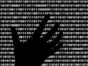 Ominous black hand in lines of code
