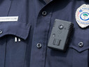 Policeman wearing body camera