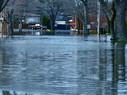 Suburban flood waters