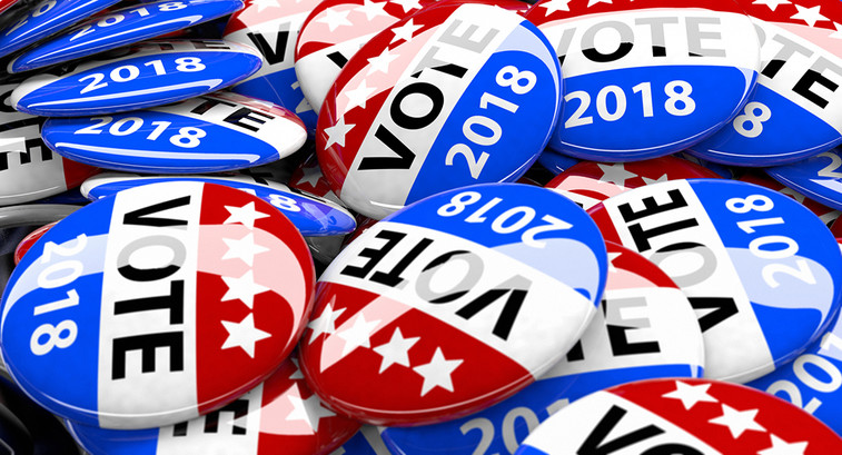 2018 election campaign buttons