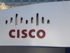A large Cisco Systems sign sits outside their San Jose, Calif., headquarters