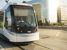 Kansas City Missouri Streetcar Downtown Line Provides Public Transportation