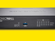 SonicWall TZ400  on bright yellow background