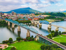 Chattanooga Tennessee aerial view