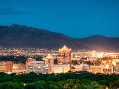 Albuquerque, New Mexico, at night.