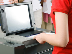 Inserting a ballot into a ballot scanner