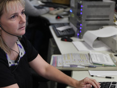 Female 911 dispatcher