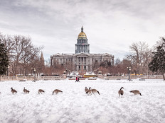 The Colorado State Capitol in Denver.