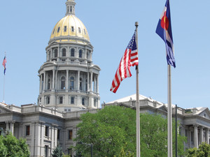 The Colorado State House in Denver.